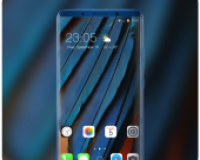 Tema para IOS-13 Blue Feather resumen de papel tapiz